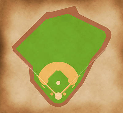 Babe Ruth Digital Art - Red Sox Field by Carl Scallop