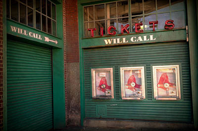 Red Sox Tickets Will Call Art Print by James  Meyer