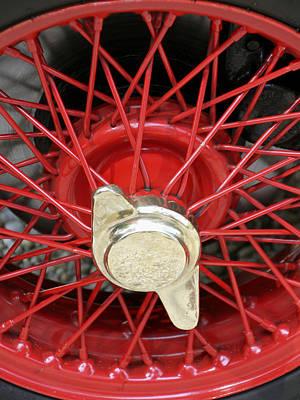 Photograph - Red Spokes by Bob Slitzan