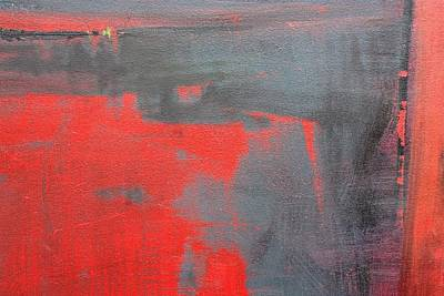 Painting - Red Square Dissected IIi  C2010 by Paul Ashby