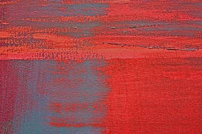 Painting - Red Square Dissected Vi  C2010 by Paul Ashby