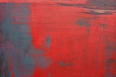 Abstraction Painting - Red Square Dissected Viii  C2010 by Paul Ashby