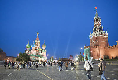 Photograph - Red Square by Gouzel -