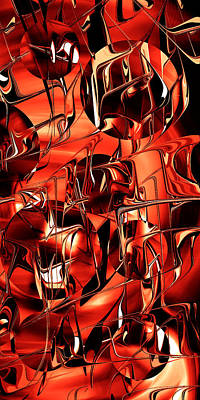Digital Art - Red Steel Balls - Smartphone by rd Erickson