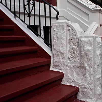 Photograph - Red Steps by Cornelis Verwaal