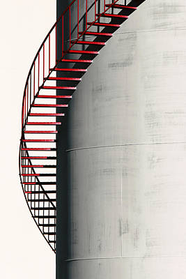 Photograph - Red Steps On Tank by Robert Woodward
