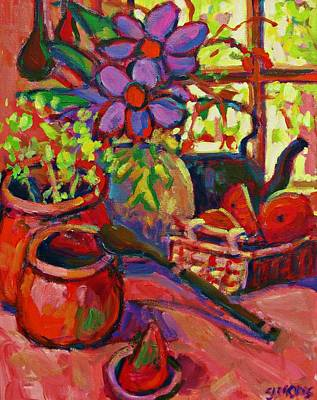 Red Still Life Art Print by Brian Simons