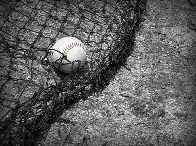 Baseball Photograph - Red Stitches by Kelly Hazel