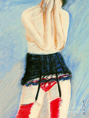 Painting - Red Stockings Art Print by William Cain
