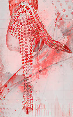 Digital Art - Red Stockings by Greg Sharpe
