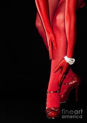 Red Stockings02 Art Print by Svetlana Sewell