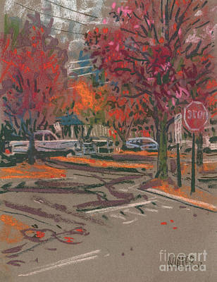 Red Stop Art Print by Donald Maier
