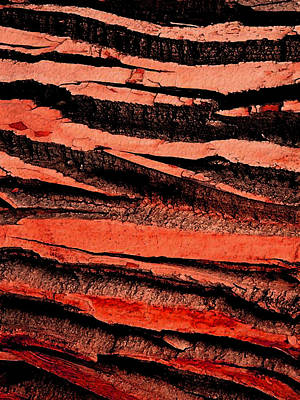 Digital Art - Red Strata by Stephanie Grant