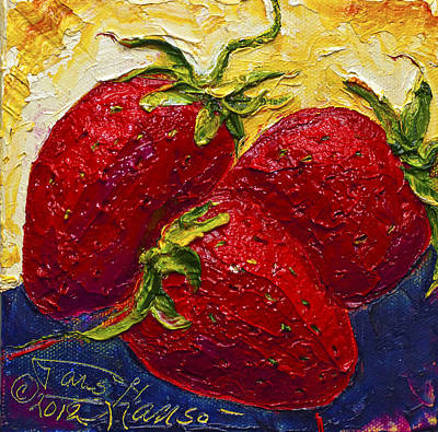 Red Strawberries II Art Print