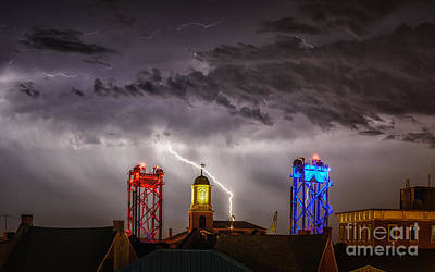 Nh Photograph - Red Strike And Blue by Scott Thorp