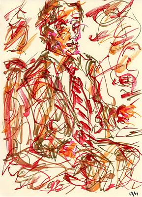 Drawing - Red Suit by Rachel Scott