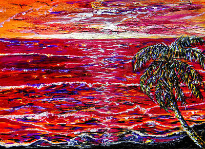Painting - Red Sunrise by Christy Usilton