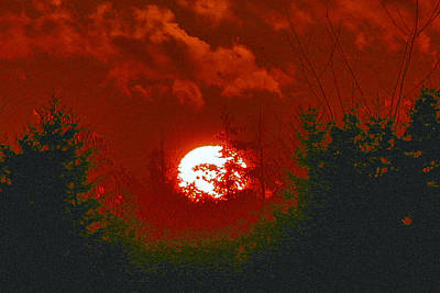 Photograph - Red Sunset by Dragan Kudjerski