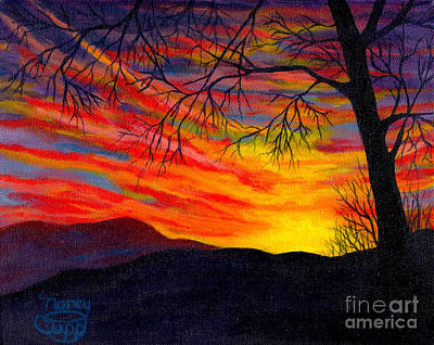 Painting - Red Sunset by Nancy Cupp