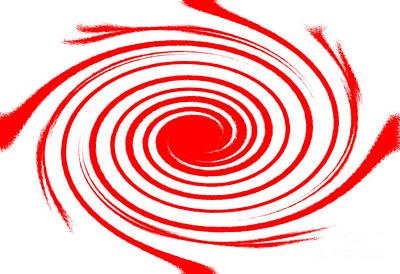 Red Swirl War  Art Print by Lali Kacharava