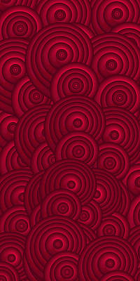 Abstract Pattern Painting - Red Swirls by Frank Tschakert