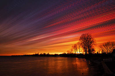 Photograph - Red Swoosh by Matt Molloy