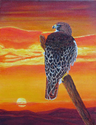 Painting - Red-tailed Hawk by Fran Brooks