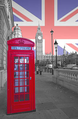 Red Telephone Big Ben Art Print