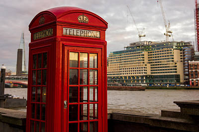 Old Phone Booth Photograph - Red Telephone Booth by Pati Photography