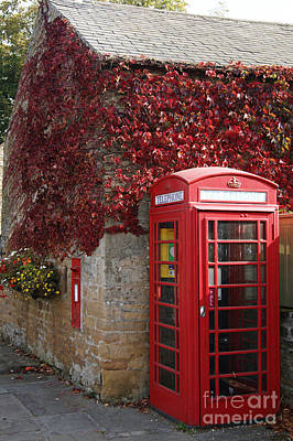 Photograph - Red Telephone Box by David Birchall