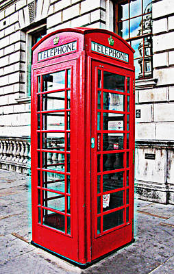 Red Telephone Box Call Box In London Art Print by Tom Conway