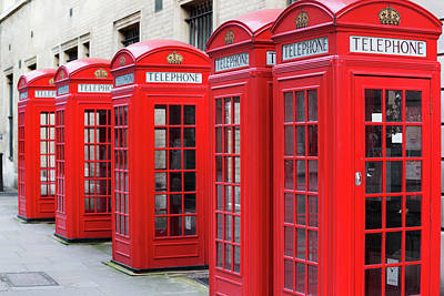 Photograph - Red Telephone Boxes by Chris Mellor