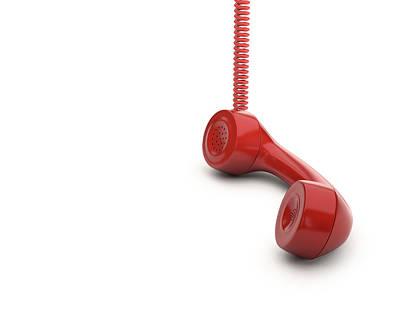 Red Telephone Handset Art Print by Ktsdesign