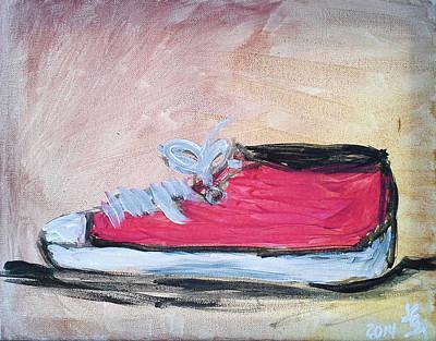 Red Tennis Shoe Art Print
