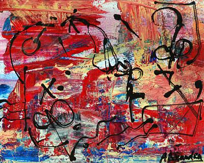 Painting - Divertimento No.20 - Red Texas by Alexandra Jordankova