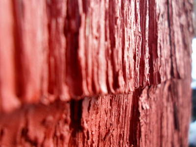 Red Texture Art Print by Jenna Mengersen