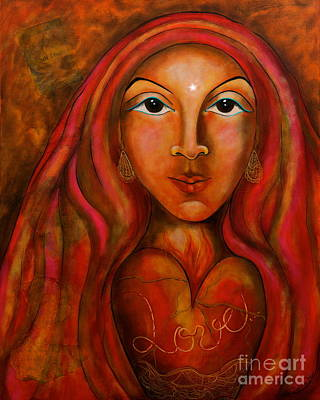 Painting - Red Thread Madonna by Deborha Kerr
