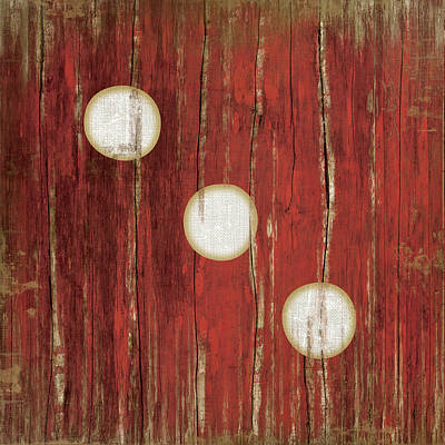 Cave Painting - Red Three by Jennifer Pugh