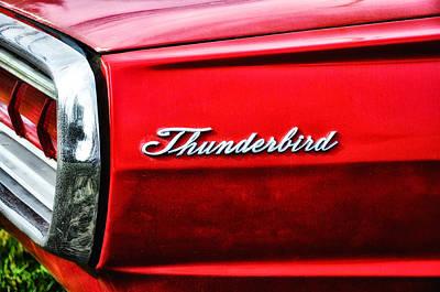 Red Thunderbird Art Print by Bill Cannon
