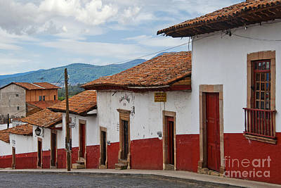 Patzcuaro Photograph - Red Tile Roofed Buildings On Isla De by Ellen Thane