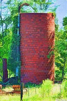 Photograph - Red Tile Silo Digital Paint by Debbie Portwood