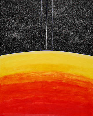 Painting - Red To Yellow Spacescape by Jesse Jackson Brown