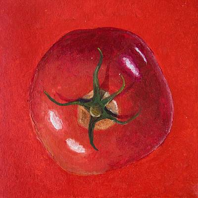 Cooks Illustrated Painting - Red Tomato  by Presilla Hadzhieva