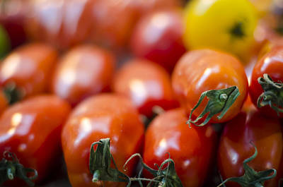 Photograph - Red Tomatoes At The Market by Heather Applegate