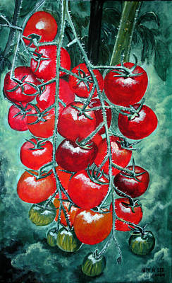 Red Tomatos Art Print by Huy Lee