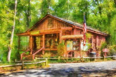 Nature Center Digital Art - Red Top Visitors Center by Daniel Eskridge