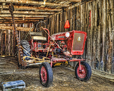 Photograph - Red Tractor by Steve Hurt