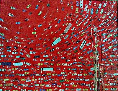 Painting - Red Traffic by Auckel Vishal