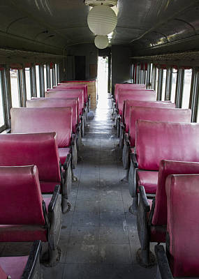 Photograph - Red Train Seats by For Ninety One Days