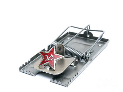 Communist Russia Photograph - Red Trap by Sinisa Botas